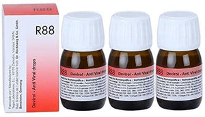 Dr.Reckeweg Germany R88 Anti Viral Drops Pack Of 3 by Dr. Reckeweg