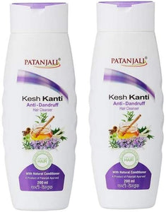 Patanjali Kesh Kanti Anti-Dandruff Hair Cleanser Shampoo, 200ml (Pack of 2)