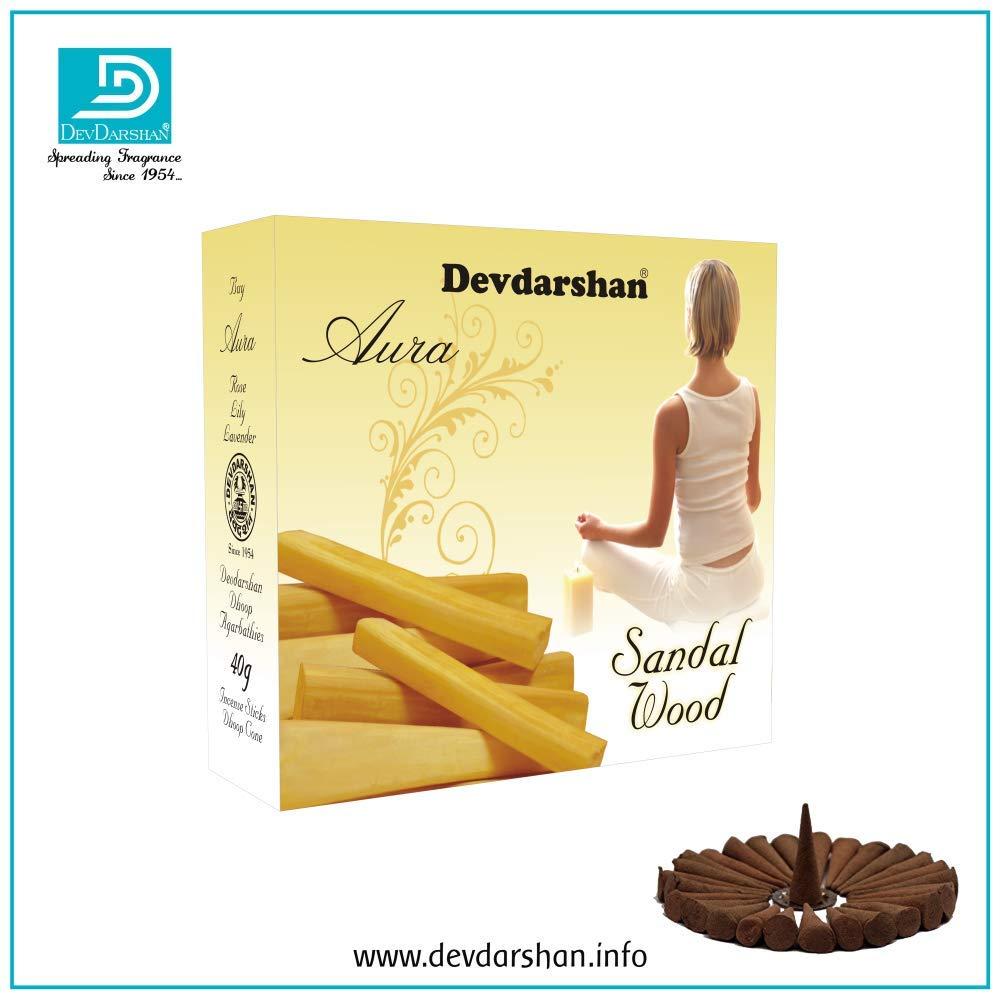 Devdarshan Aura Dry Dhoop Cones Combo Pack of 2 Boxes with 8 Fragrance