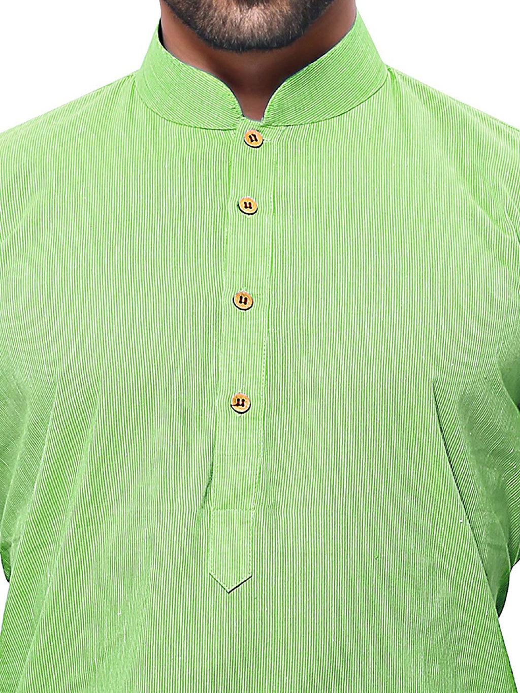 Men's Handloom Green Kurta Pyjama