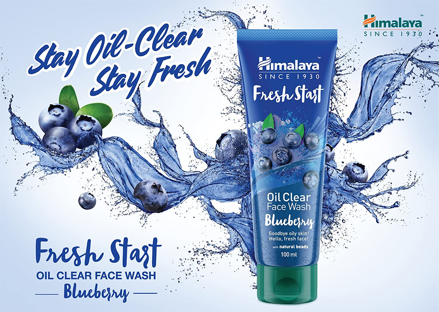 Himalaya Face Wash Oil Clear Blueberry , 100 ml