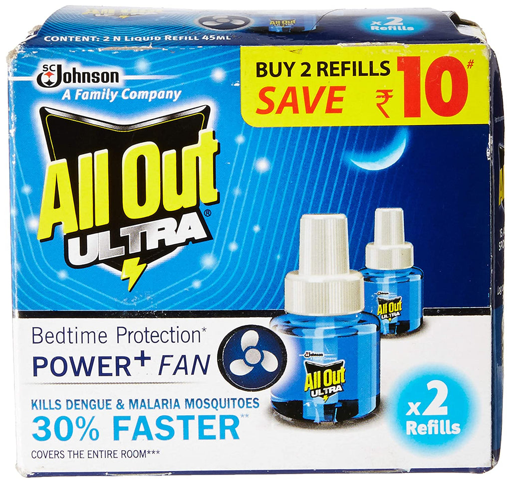 All Out Ultra Refill Twin Pack 2 N (45 ml Each)