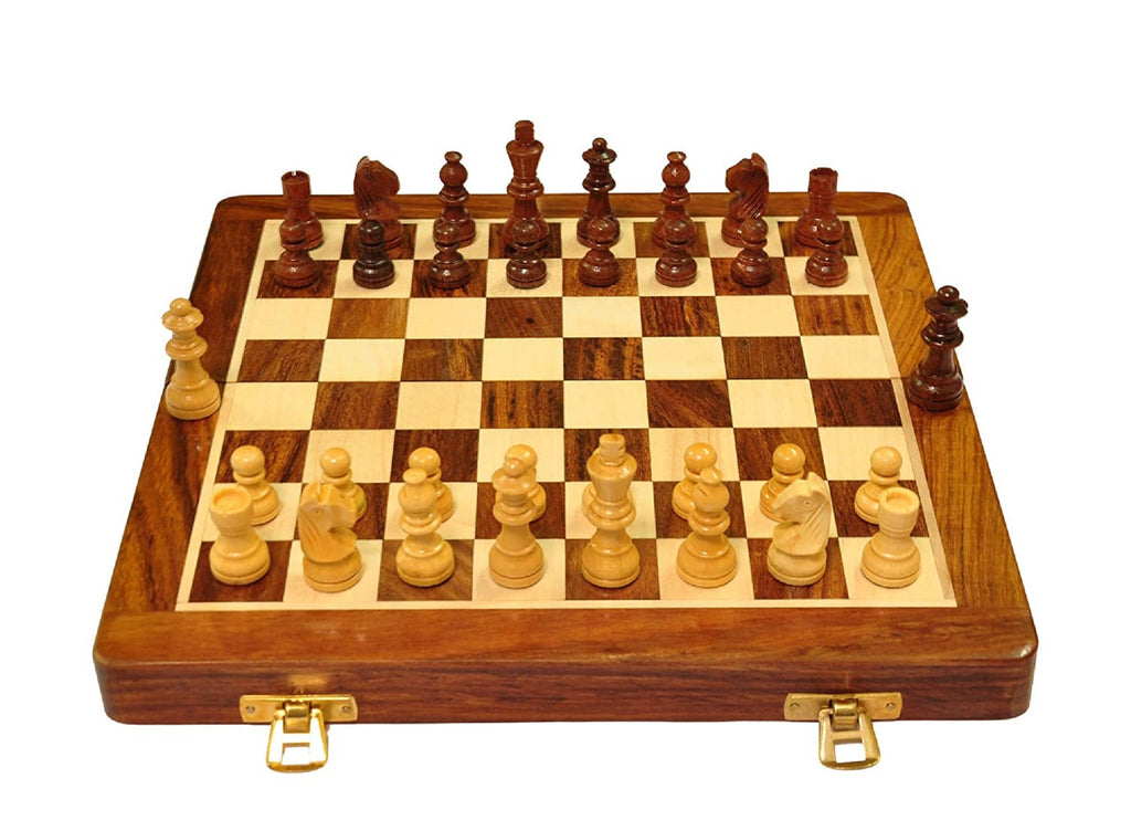 Palm Royal Handicrafts   Best folding wooden Handmade Chess Set Board with magnetic pieces with extra queen with premium quality.