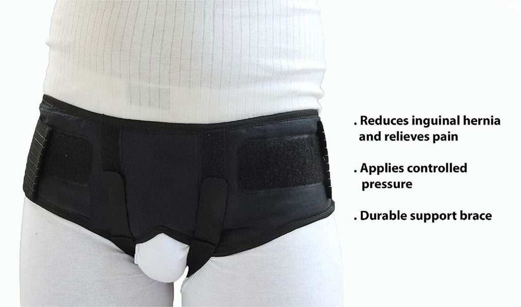 Hernia Belt For Men - Medical Groin Support Truss (Black Color)