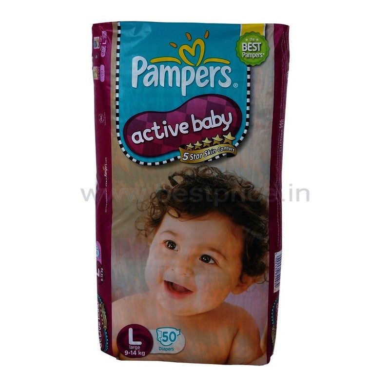 Pampers Active Baby Large Diapers 50 N