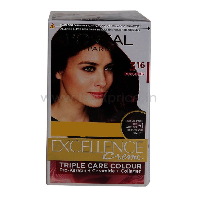 L'Oreal Paris Excel Burgundy Hair Colour 72 ml + 100 g