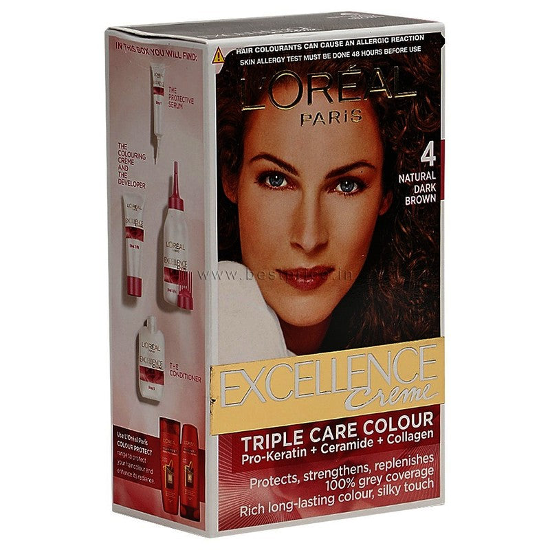L'Oreal Paris Hair Natural dark Brown Hair Colour 72 ml + 100 g
