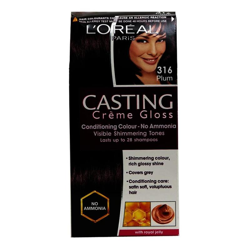 L'Oreal Paris Hair Colour Plum Hair Colour, 72 ml + 87.5 g