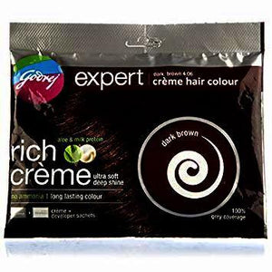 Godrej Expert Crème Dark Brown Hair Colour 20 g + 20 ml