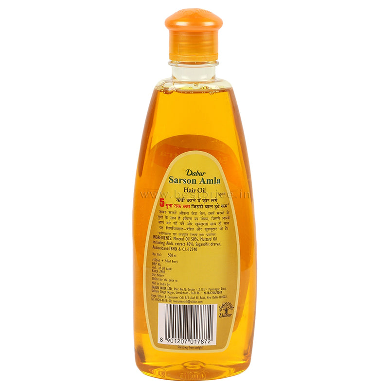Dabur Vatika Sarson Amla Hair Oil 500 ml