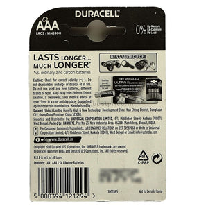 Duracell Alkaline AAA Battery Copper & Black, 4N