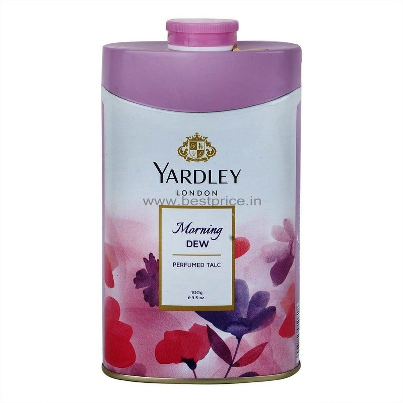 Yardley Deodorizing Talcum Powder Morning Dew, 100 g