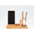 Socle chargeur en bambou pour iPhone/iPad mini/Apple Watch