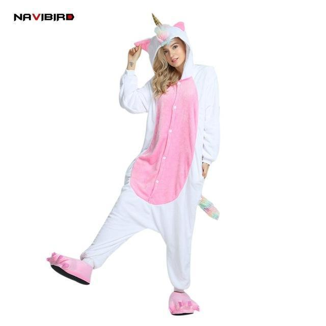 Long Sleeves Flannel Unicorn Onesie Pajama For Women Winter Red Fish-Scale  Pattern Men s Cosplay a3a1f21ad