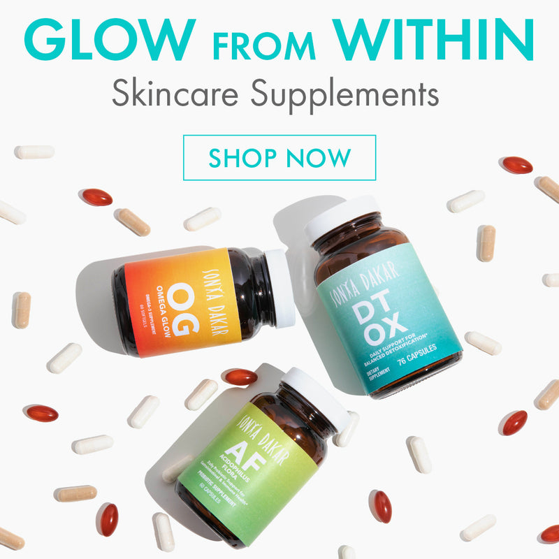 Glow from within skincare supplements.