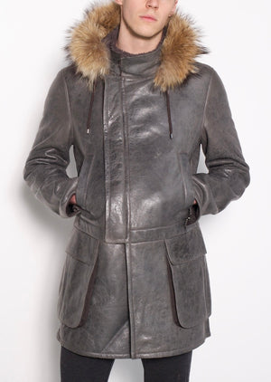 Woody- Fur Trimmed Expedition Jacket w Detachable Hood