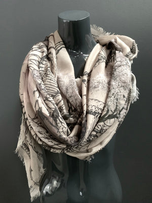 Cherry Blossom Infestation Shawl Scarf