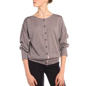 Blouson Button Down Cardigan (Additional Colours Available)