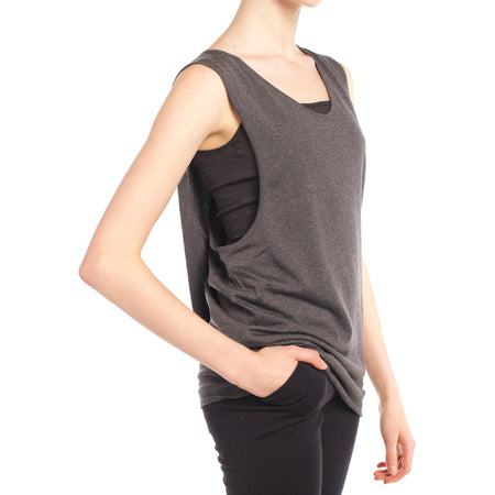 Faux Wrap Back Tank (Also Available in Oatmeal)