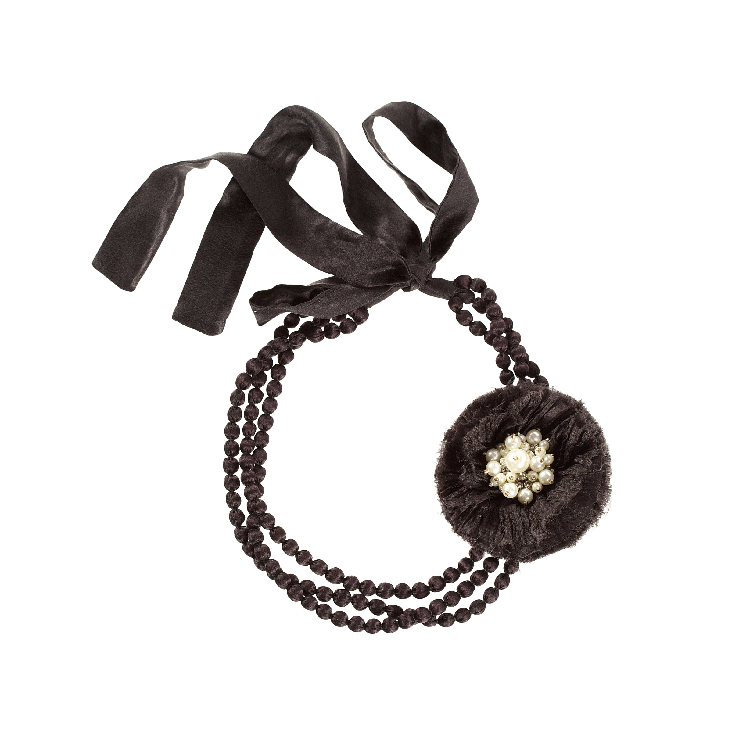 Pearl Flower Black