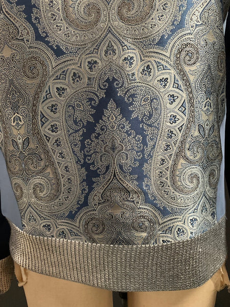 Bespoke Paisley Techno Stretch Sweatshirt-M