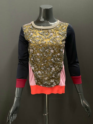 Bespoke Beaded Lace Jersey Sweatshirt- XS