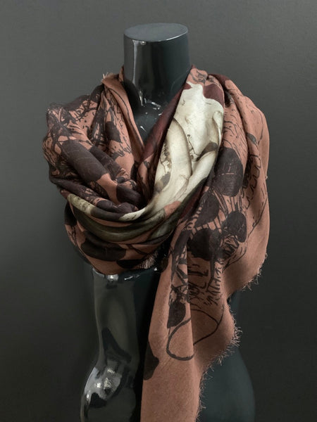 Vines & Horns Shawl Scarf