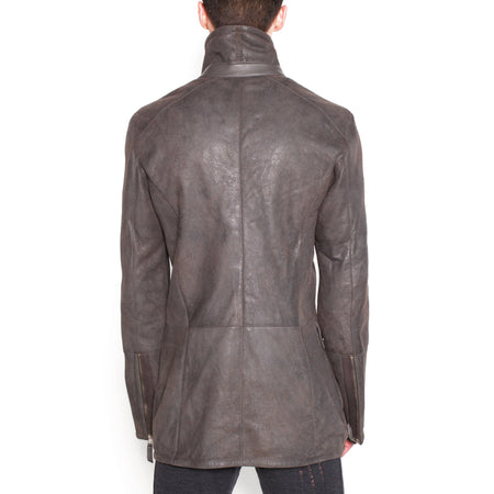 Wesley- Asymmetrical Zip Front Hunting Jacket
