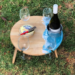 Round folding picnic table - Seascape