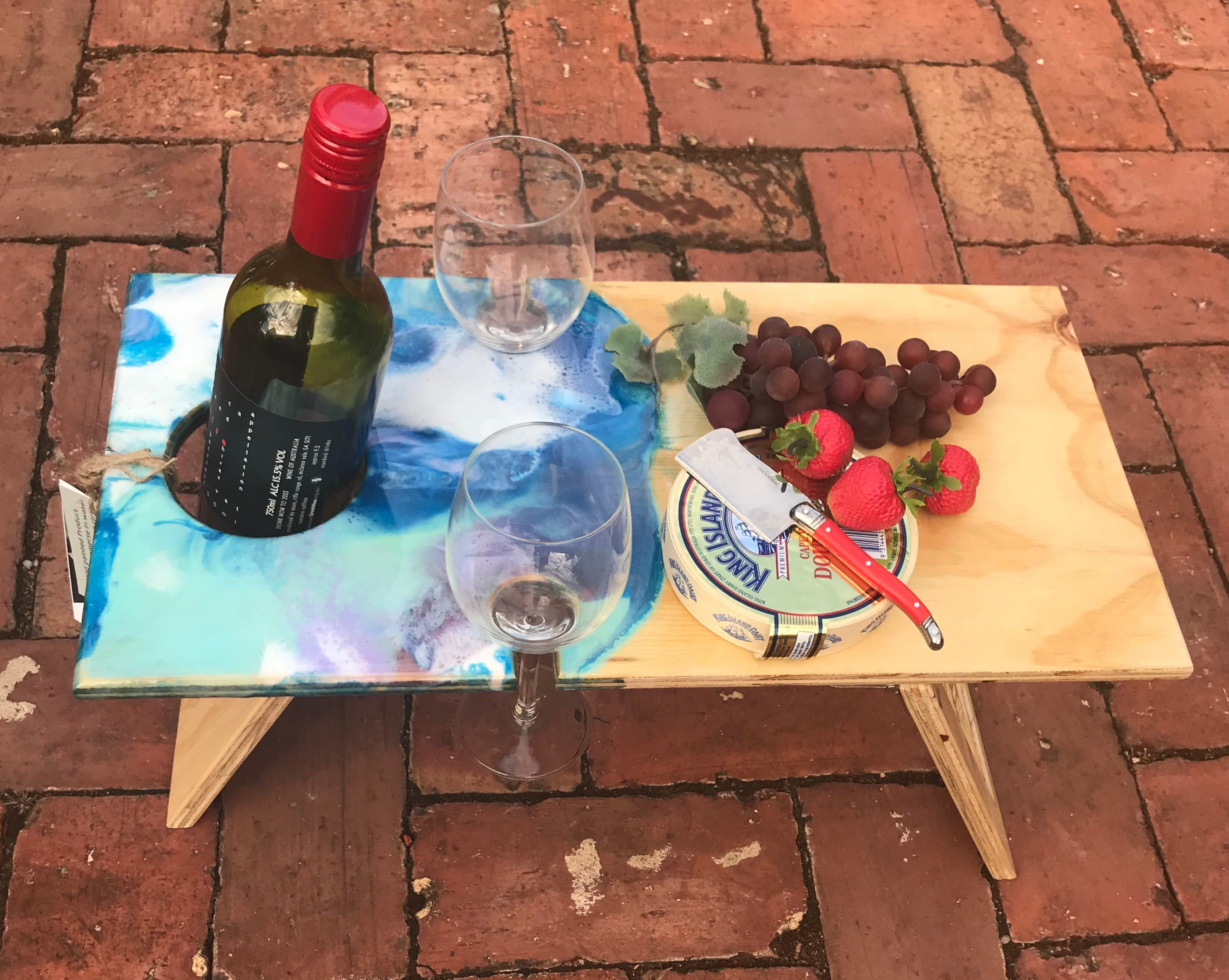 Rectangular Folding Wine Picnic Table