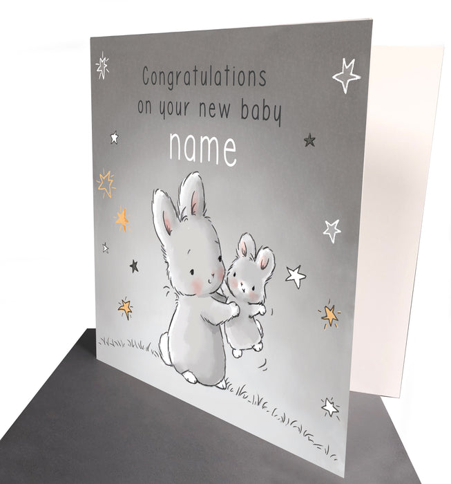 Large Cream Nibble Bunny, Book and Card Set