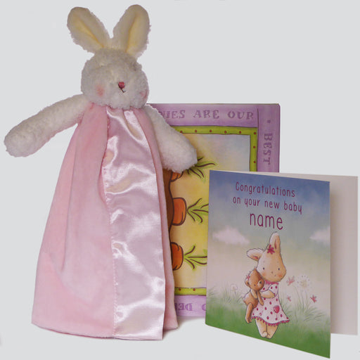 Travel Pink Bunny and Card Set