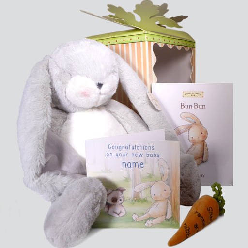 XL Grey Bunny Bumper Box and Card set