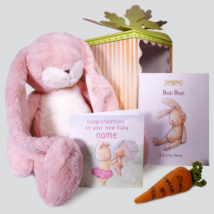 XL Pink Bunny Bumper Box and Card Set