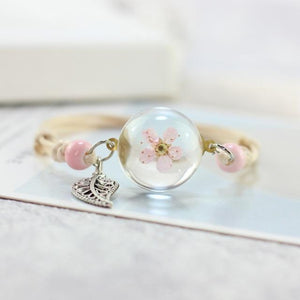 DRY FLOWER GLASS BALL BRACELET - Shopit Gear