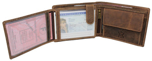 """Portefeuille Wood"" Anti-RFID (Marron)"