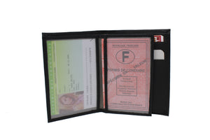 """Porte papiers Roady"" ANTI-RFID (Rouge)"