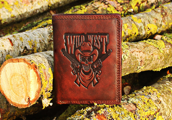 """Portefeuille Wild West"" (Marron)"