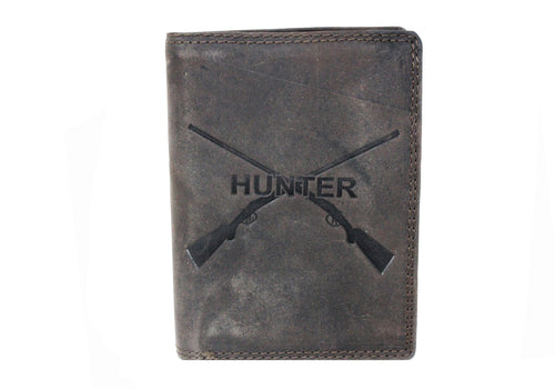 Portefeuille biker motif Hunter (Marron)
