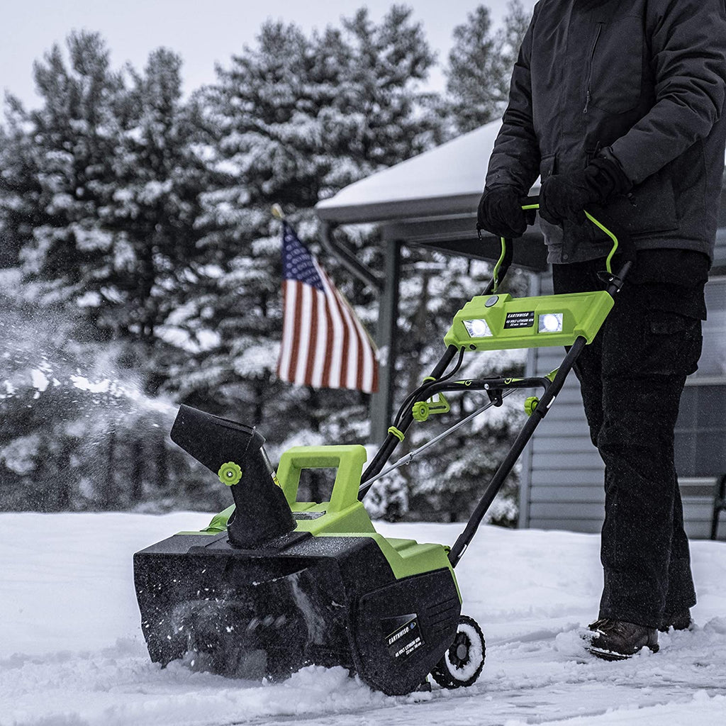 EARTHWISE SN74022 CORDLESS SNOW THROWER REVIEW