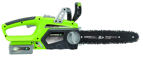 "Earthwise 12"" 24V 2.5Ah Lithium Chainsaw"