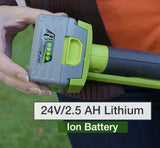 "Earthwise 10"" 24V 2.5Ah Lithium Pole Saw"