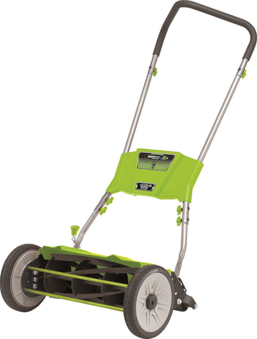 "Earthwise 18"" Manual Ultra Silent Reel Mower"