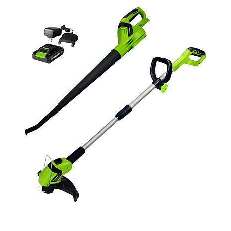 Earthwise 20V Lithium String Trimmer with Blower Combo