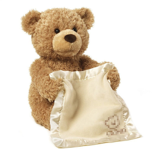 Peek-A-Boo Talking Teddy Bear - seasonBlack