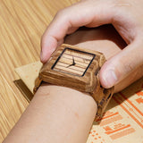 Men's Valentines Wooden Watch in Wooden Gift Box - seasonBlack