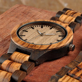 Men's Wooden Watch - Engraved Messages - seasonBlack