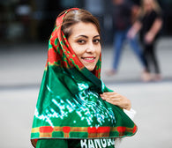 Women's Scarf/Hijab - Bangladesh Cricket Fans of CWC19 - seasonBlack