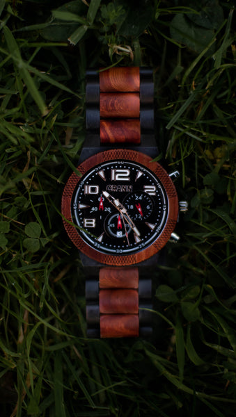 Slan - Men's Designed Wooden Watch