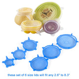6Pcs/ Set Universal Silicone Stretch Lids - seasonBlack